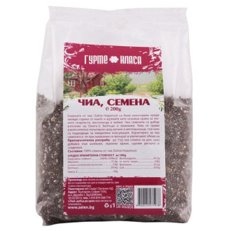Чиа семена 100гр, 200гр или 500гр ГУРМЕ КЛАСА | Chia seeds 100g, 200g or 500g GURME KLASA