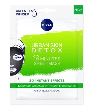НИВЕА УРБАН ДЕТОКС 10 минутна лист маска за лице 1бр | NIVEA URBAN DETOX 10 minutes sheet mask 1s