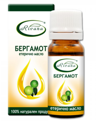 РИВАНА Етерично масло от БЕРГАМОТ 10мл | RIVANA CITRUS BERGAMIA Essential oil 10ml