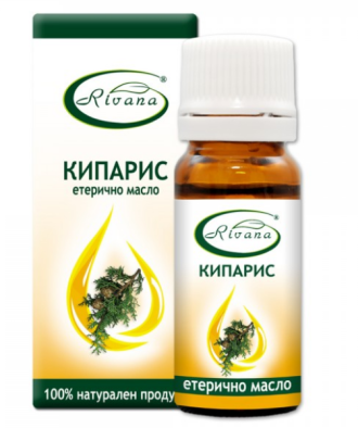 РИВАНА Етерично масло от КИПАРИС 10мл | RIVANA CUPRESSUS SEMPERVIRENS Essential oil 10ml