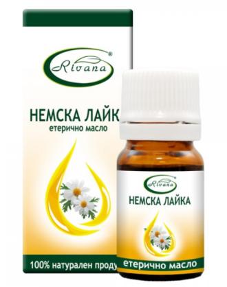 РИВАНА Етерично масло от НЕМСКА ЛАЙКА 5мл | RIVANA MATRICARIA CHAMOMILLA Essential oil 5ml