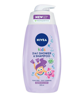 НИВЕА КИДС ЗА МОМИЧЕТА Душ гел и Шампоан 2 в 1 500мл | NIVEA KIDS FOR GIRLS Shower gel and Shampoo 2 in 1 500ml