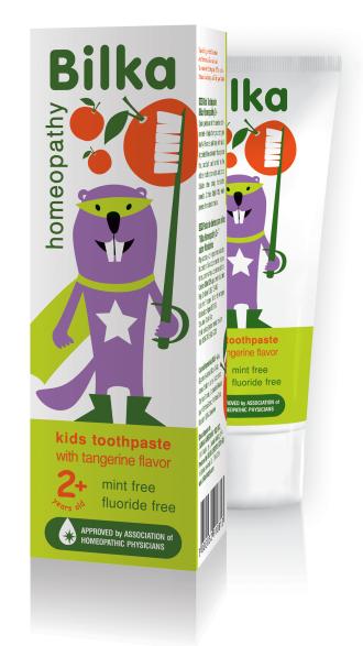 БИЛКА ХОМЕОПАТИ ЗА ДЕЦА Детска крем-паста за зъби органик 2+ 50мл | BILKA HOMEOPATHY FOR KIDS Toothpaste cream for kids organic 2+ 50ml