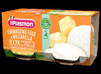 ПЛАЗМОН Пюре Топено сирене с Моцарела 4+ 2x80гр | PLASMON Formaggino fuso e Mozzarella 4+ 2x80g