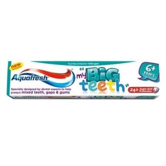 АКВАФРЕШ Детска паста за зъби 6г+ БИГ ТИЙТ 50мл | AQUAFRESH Kids toothpaste 6y+ BIG TEETH 50ml