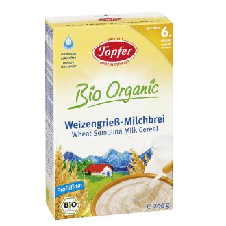 TЬОПФЕР БИО ОРГАНИК Млечна каша с пшеничен грис 200гр | TOPFER BIO ORGANIC Wheat semolina milk cereal 200g