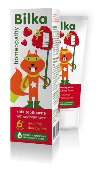 БИЛКА ХОМЕОПАТИ ЗА ДЕЦА Детска гелна паста за зъби органик 6+ 50мл | BILKA HOMEOPATHY FOR KIDS Toothpaste cream for kids organic 6+ 50ml
