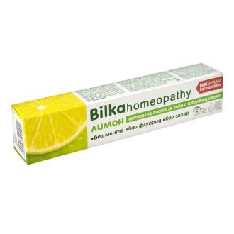 БИЛКА ХОМЕОПАТИ Паста за зъби с лимон 75мл | BILKA HOMEOPATHY Toothpaste with lemon 75ml