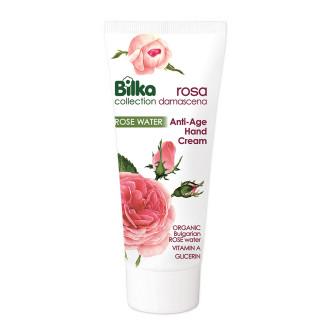 БИЛКА РОЗА ДАМАСЦЕНА Подмладяващ анти-ейдж крем за ръце 100мл   BILKA ROSA DAMASCENA Rejuvenating anti-age cream for hand 100ml