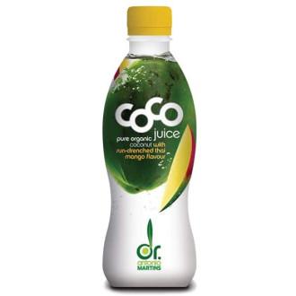 ДР. МАРТИНС Кокосова вода с манго 330мл | DR. MARTINS Coco juce with sun-drenched thai mango falvour 330ml