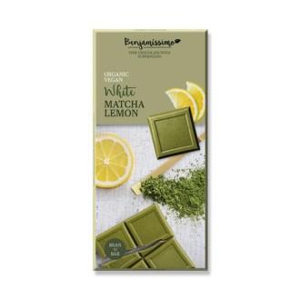 БИО Шоколад с Матча и Лимон 70гр БЕНДЖАМИСИМО | Chocolate with Matcha and Lemon 70g BENJAMISSIMO