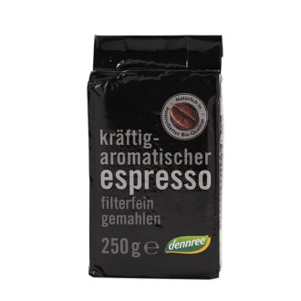 БИО Кафе Еспресо, мляко 250гр ДАНРЕ | BIO Coffee Espresso, minced 250g DENNREE