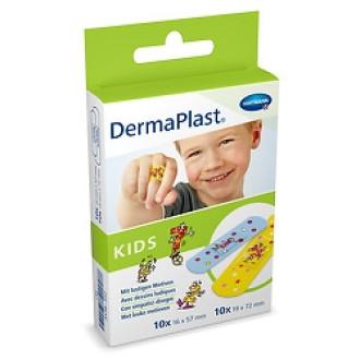 ДЕРМАПЛАСТ ЗА ДЕЦА Пластири за малки повърхностни рани, 2 размера в опаковка, общо 20бр в опаковка | DERMAPLAST KIDS Patches, 2 sizes, total 20s in one box