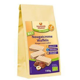 БИО Вафлички с Лешников крем, без глутен 125гр ХАМЕРМИЛ | BIO Waffles with hazelnut cream, gluten-free 125g HAMMERMÜHLE
