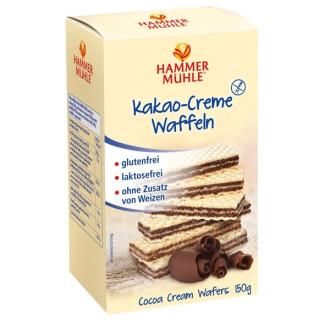 Вафлички с Какаов крем, без глутен 150гр ХАМЕРМИЛ | Waffles with cocoa cream, gluten-free 150g HAMMERMÜHLE