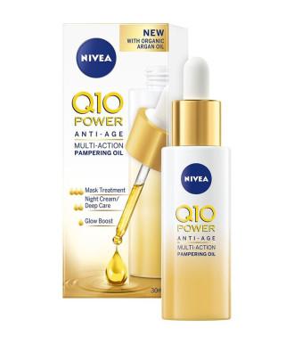 НИВЕА Q10+ ПАУЪР ЕКСТРА+ Мултифункционално олио против бръчки за суха кожа 30мл | NIVEA Q10+ POWER EXTRA+ Multi-action pampering oil for dry skin 30ml