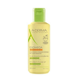 А-ДЕРМА ЕКЗОМЕГА КОНТРОЛ Емолиентно душ-олио за лице и тяло 200мл | A-DERMA EXOMEGA CONTROL Huile lavante emolliente 200ml