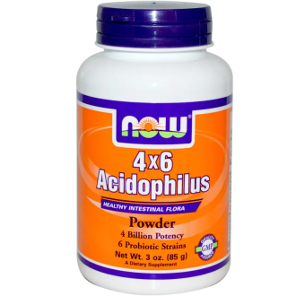 АЦИДОФИЛУС 4х6 прах 85г НАУ ФУУДС | ACIDOPHILUS 4x6 pwd 85g NOW FOODS