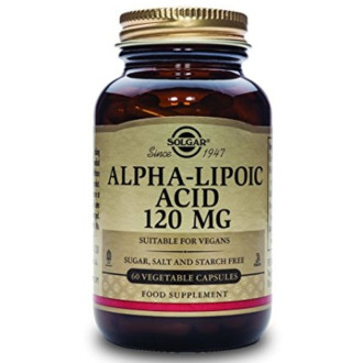АЛФА-ЛИПОЕВА КИСЕЛИНА 120мг раст. капсули 60бр. СОЛГАР | ALPHA LIPOIC ACID 120mg veg.caps 60s SOLGAR
