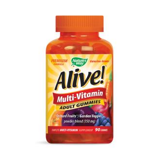 АЛАЙВ Мултивитамини за възрастни 90бр. желирани табл. НЕЙЧЪР'С УЕЙ | ALIVE Multivitamins Adult gummies 90s gummies NATURE'S WAY