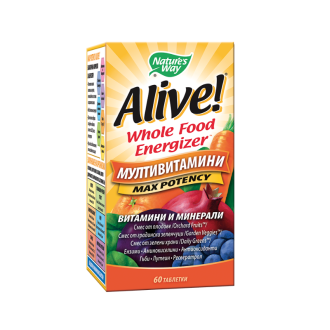 АЛАЙВ Мултивитамини 60 табл. НЕЙЧЪР'С УЕЙ | ALIVE Multivitamins Max Potency 60 tabs NATURE'S WAY