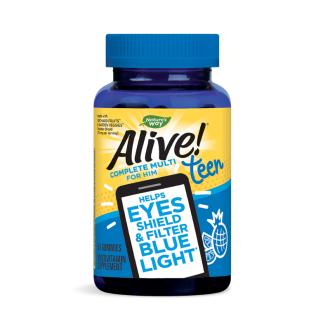 АЛАЙВ ТИЙН Мултивитамини за момчета, желирани таблетки x 50бр НЕЙЧЪР'С УЕЙ | ALIVE TEEN Complete Multi For Him, gummies x 50s NATURE'S WAY