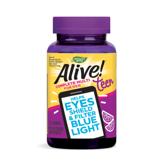 АЛАЙВ ТИЙН Мултивитамини за момiчета, желирани таблетки x 50бр НЕЙЧЪР'С УЕЙ | ALIVE TEEN Complete Multi For Her, gummies x 50s NATURE'S WAY