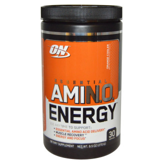 АМИНО ЕНЕРДЖИ – ПОРТОКАЛ прах 270г ОПТИМУМ НУТРИШЪН | AMINO ENERGY – ORANGE pwd 270g OPTIMUM NUTRITION
