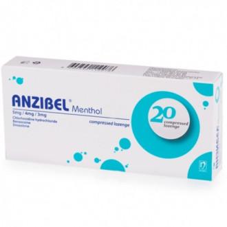 АНЗИБЕЛ МЕНТОЛ пастили 20 бр. | ANZIBEL MENTHOL compressed lozenges 20s