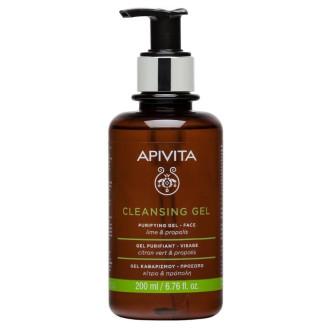 Измиваш гел за лице за комбинирана и мазна кожа х 200мл АПИВИТА | Purifying cleansing gel for oily and combination skin x 200 ml APIVITA
