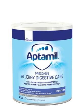 АПТАМИЛ ADC ПРЕГОМИН (Мляко за диетотерапия на кърмачета и деца с хранителна алергия и интолеранс) 0+ месеца 400гр. | APTAMIL ADC PREGOMIN (Allergy Digestive Care) Infant formula formula 0+ 400g