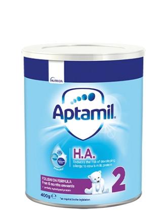 АПТАМИЛ 2 с Pronutra+ Хипо-алергенно (НА) Преходно мляко 6-12 м. 400гр. | APTAMIL 2 with Pronutra+ Hypo-allergenic (HA) Follow on milk formula 6-12 m 400g