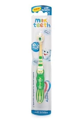 АКВАФРЕШ Детска четка за зъби 0-2г МИЛК ТИЙТ софт | AQUAFRESH Kids toothbrush 0-2y MILK TEETH soft