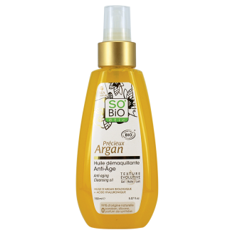 СО'БИО PRECIEUX ARGAN Анти-ейдж почистващо олио 150мл   SO'BIO PRECIEUX ARGAN Anti-aging cleansing oil 150ml