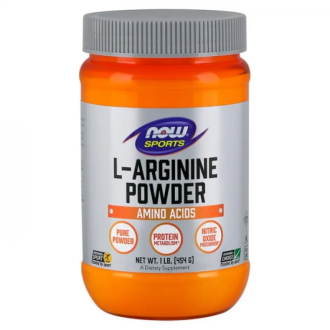 Л-АРГИНИН прах 454г НАУ ФУУДС | L-ARGININE pwd 454g NOW FOODS