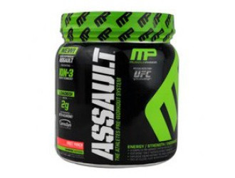 АСЪЛТ ХТ - ПЛОДОВ ПУНШ прах 30 дози МЪСЪЛФАРМ | ASSAULT XT - FRUIT PUNCH pwd. 30 serv. MUSCLEPHARM