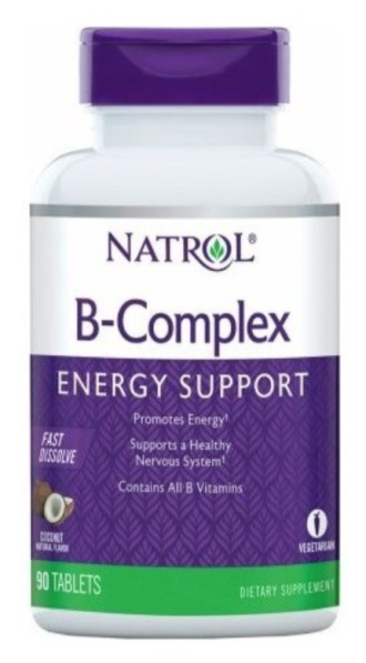 Б-КОМПЛЕКС - бързо разтворим 90 таблетки НАТРОЛ | B-COMPLEX Fast Dissolve 90 tabs NATROL