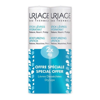 ЮРИАЖ ЕУ ТЕРМАЛ Възстановяващ стик за устни 2 x 4гр | URIAGE EAU THERMALE Moisturizing lipstick 2 x 4g