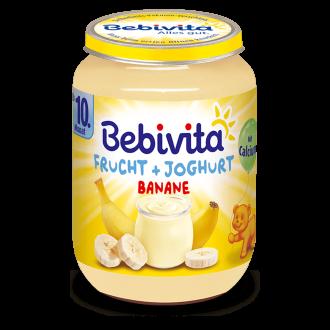 БЕБИВИТА Йогурт с плодове - банани 10+ м. 190гр. | BEBIVITA Yoghurt with fruits - bananas 10+ 190g