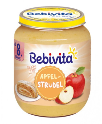 БЕБИВИТА Ябълков щрудел 8+ м. 160гр. | BEBIVITA Apple strudel 8+ 160g