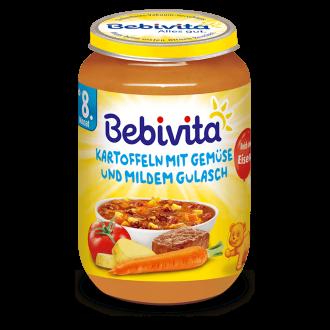 БЕБИВИТА Картофи и зеленчуци с гулаш 8+ м. 220гр. | BEBIVITA Potatoes and vegetables with gulasch 8+ 220g