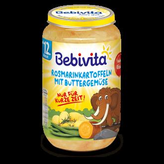 БЕБИВИТА Картофи с розмарини зеленчуци в масло 12+ м. 250гр. | BEBIVITA Potatoes and vegetables with Rosemary and butter 12+ 250g