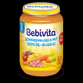 БЕБИВИТА Паста с шунка и зеленчуци 8+ м. 220гр. | BEBIVITA Pasta with vegetables and ham 8+ 220g