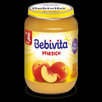 БЕБИВИТА Пюре от Праскови 4+ м. 190гр. | BEBIVITA Peach puree 4+ 190g