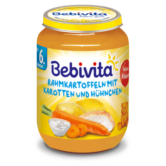 БЕБИВИТА Картофи и моркови с пилешко месо 6+ м. 190гр. | BEBIVITA Potatoes and carrots with chicken 6+ 190g