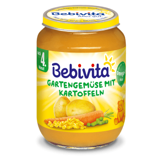 БЕБИВИТА Пюре Градински зеленчуци 4+ м. 190гр. | BEBIVITA Garden vegetables puree 4+ 190g