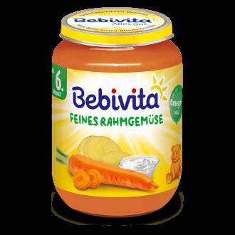 БЕБИВИТА Пюре Нежни зеленчуци със сметана 6+ м. 190гр. | BEBIVITA Vegetables with cream puree 6+ 190g
