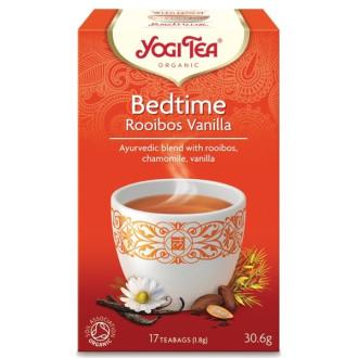 "ЙОГИ ОРГАНИК БИО Аюрведичен чай ""Вечерен с ройбос и ванилия"", пакетчета 17бр | YOGI ORGANIC BIO Ayurvedic tea blend ""Bedtime with rooibos and vanilla"" teabags 17s"