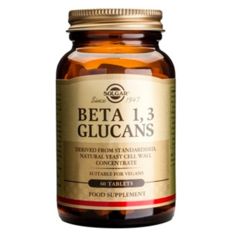 1,3 БЕТА ГЛЮКАНИ 60 таблетки СОЛГАР | 1,3 BETA GLUCANS 60 tabs SOLGAR