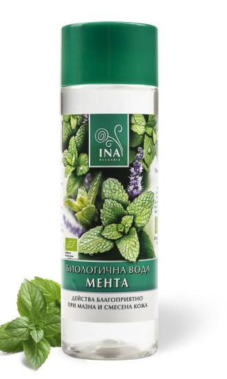 БИО Вода от Мента x 200мл ИНА ЕСЕНШЪЛС | BIO Peppermint Flower Extract WATER x 200ml INA ESSENTIALS